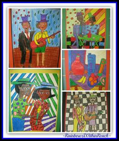 photo of: Art projects in Response to the work of William H. Johnson via RainbowsWithinReach