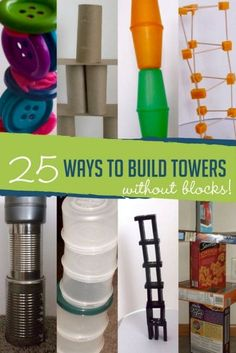 No blocks? Try these clever ideas for building towers using everyday supplies you already have at home.