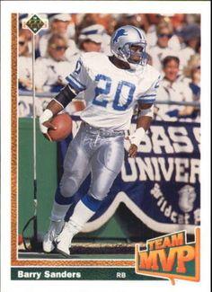 1991 Upper Deck #458 Barry Sanders DETROIT LIONS NFL Football Card  #DetroitLions