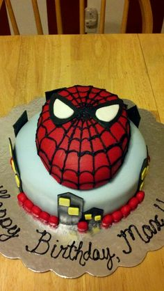 Spiderman cake we recently made!