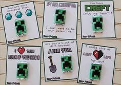 5 printable Minecraft valentine ideas