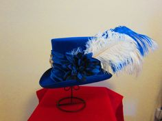 A personal favorite from my Etsy shop https://www.etsy.com/listing/205414259/blue-top-hat-stevie-nicks-inspired