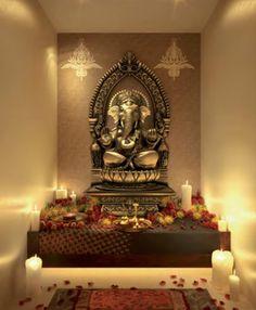 pooja puja indian decoration interior prayer temple designs india modern mandir interiors decor rooms google diwali would idea cabinet entrance