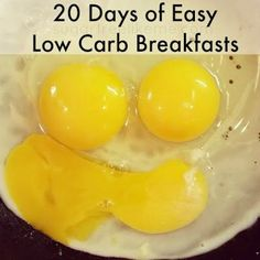 20 Days of Easy Low Carb Breakfasts