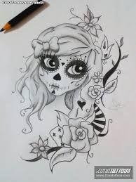Resultado de imagem para dia de los muertos tattoo