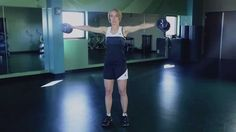 """""""How to Do a Lateral Arm Raise"""" - Kristen Feola, author and former personal trainer, demonstrates the proper way to perform a lateral arm raise exercise, as featured in her book, Spiritually Strong: The Ultimate 6-Week Guide to Building Your Body and Soul. http://www.kristenfeola.com"""
