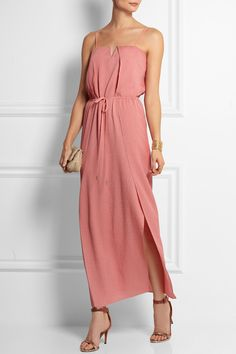 Halston Heritage | Hammered-silk maxi dress | NET-A-PORTER.COM