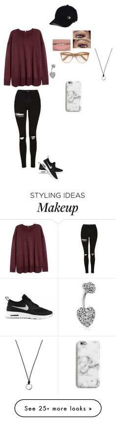 """"" by lingering-souls-vocals1 on Polyvore featuring Topshop, NIKE, Wildfox, Bling Jewelry, adidas and FOSSIL"