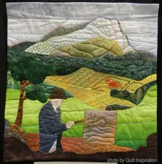 Cezanne -inspired quilt by Yolande Guibert, France.  World Painters Challenge.  2016 AQS, photo by Quilt Inspiration.