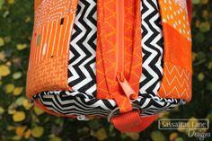 Scrappy Orange Daily Duffle by Sassafras Lane Designs