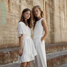 Konfirmationskjoler fra White And More. Hair Ties, White Dress, Casual, Model, Outfits, Inspiration, Clothes, Dresses, Bright
