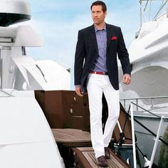 Nautical Chic for Men. Again, must serve only white wines. Champagne, of course, always works.