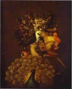 "Giuseppe Arcimboldo: ""The air"" and ""The spring"""