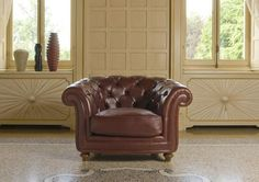 """The """"Oxford"""" leather armchair."""