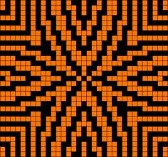 Geometric design from Grid Paint. Modern quilt inspiration. Tapestry Crochet Inspiration.