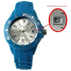 FW893D Matt Silver Dial Blue Watchcase Mens Natual BRAND z datumom Fashion Watch