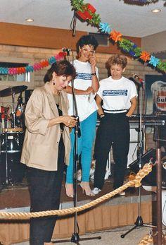 Afscheid Adri de Vries - zomer 1984 Adri, Eugenie Bürer, Mandy Savage