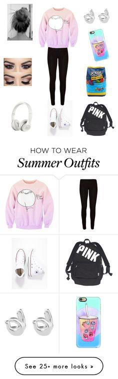 """School Outfit"" by nikki-graff on Polyvore featuring Converse, Rock 'N Rose, Victoria's Secret, Beats by Dr. Dre, Casetify and Hard Candy"