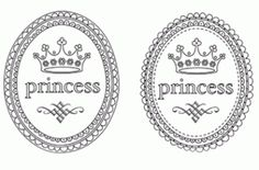 Princess badges: free to download & print
