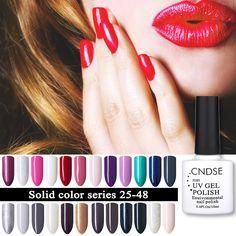 CNDSE 96 Solid Color Fashion Gel Nail LED UV Nail Gel Polish Soak Off Long Lasting LED Nail Polish Lacquer 10ML Gelpolish  Price: 0.95 USD