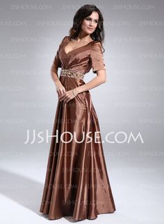 Mother of the Bride Dresses - $143.59 - A-Line/Princess V-neck Floor-Length Charmeuse Mother of the Bride Dresses With Ruffle  Sash  Beading (008006204) http://jjshouse.com/A-line-Princess-V-neck-Floor-length-Charmeuse-Mother-Of-The-Bride-Dresses-With-Ruffle-Sash-Beading-008006204-g6204