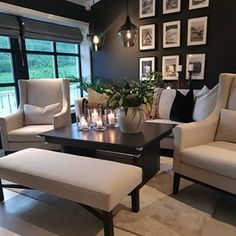Amazing white and black living room! Living Room Ideas 2019, Home Living Room, Living Room Decor, Inspire Me Home Decor, Diy Home Decor, Grace Home, Estilo Interior, Black And White Living Room, Black White