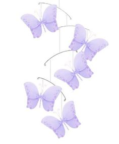 Butterfly Mobile Purple Twinkle Nylon Butterflies « MyStoreHome.com – Stay At Home and Shop