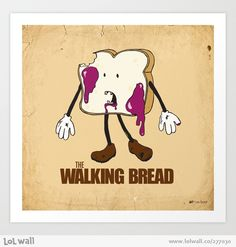 The Walking Bread by mattholleydesign