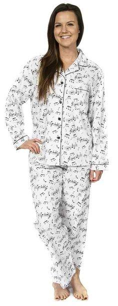 Sleep Pajama Sets Music Notes
