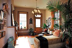 SOLD in 5 DAYS! Nicholasville, KY LOVE the built-in shelving around the fireplace! New Orleans Decor, New Orleans Homes, New Orleans Apartment, Best Of New Orleans, Creole Cottage, Cottage Renovation, Pine Floors, House Built, Apartment Interior