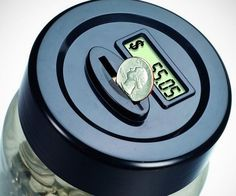 Keep a vigilant eye over your finances by tracking your savings using this digital coin counting money jar. This high tech piggy bank comes with a specialized lid that keeps track of every coin that goes in, so you know just how much is in the bank.