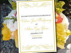 Half Fold Wedding Program Template Bella Eggplant Purple Lilac Plum Diy Order Of Service Flourish Ceremony By Paint