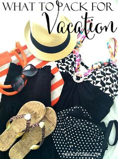 What to pack for Vacation.  Bathing suit essentials & cover ups + fun outfit planning tips