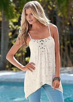 %PC% Jeweled lace top from VENUS