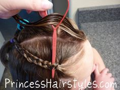 "How to make a ""Waterfall Braid"" without actually french braiding!"