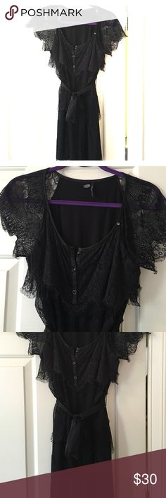 Guess Lace Dress Guess Lace Dress, 95% Rayon, 5% Spandex, cute with high heel boots or straps heels, super sexy, lined, very good condition, worn 2-3 times Guess Dresses