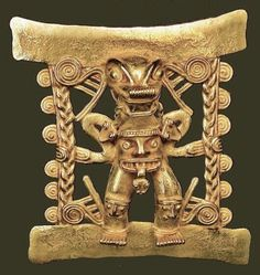 Gold Human Effigy Found in Costa Rica (Central America) and dates from 1000 AD