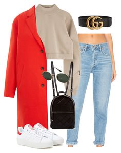 """Untitled #7148"" by ijustlikefashionman ❤ liked on Polyvore featuring AGOLDE, rag & bone, adidas Originals, STELLA McCARTNEY, Ray-Ban and Gucci"