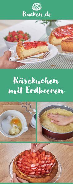 Einen fruchtig-frischen Genuss bietet diese Variante des beliebten Klassikers mit Erdbeeren. Camembert Cheese, Dairy, Desserts, Food, Bae, Birthday, German Recipes, Cute Ideas, Proper Tasty