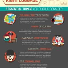 There are essential factors you should consider when shopping for new luggage. Use these tips to select the best travel luggage for you. #Travel #Luggage