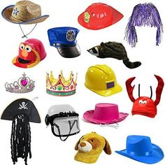 88c08568029 6 Assorted Dress Up Costume   Party Hats by Funny Party Hats Dress Up  Costumes
