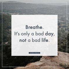 It's only a bad day, not a bad life. - Lilly is Love Cheerleading Quotes, Cheer Quotes, Sassy Quotes, Self Love Quotes, Sarcastic Quotes, Funny Quotes, Reminder Quotes, Self Reminder, Bitch Quotes Badass