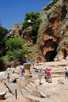 Banias is an archaeological site by the ancient city of Caesarea Philippi, located at the foot of Mount Hermon in the Golan Heights, Snir - Hazafon - Israel