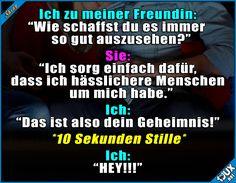 Beziehung weil hässlich? x.x #Freundin #gemein #fies #Jodel #Sprüche #lustigeBilder #Humor #lachen #witzig