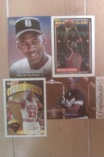 Micheal Jordan Lot of 4 Cards. MLB & NBA Chicago White Sox, Chicago Bulls. Free Shipping WOW Kool. http://yardsellr.com/yardsale/Erik-Marx-416944