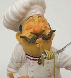 Bistro Kitchen, Chef Kitchen Decor, Clay Dolls, Art Dolls, Chef Pictures, Fairy Clothes, Bottle Stopper, Paper Clay, Soft Sculpture