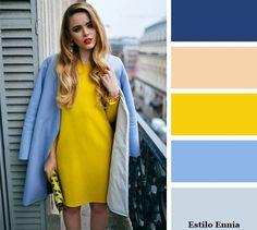 Ideas para combinar los colores. Color clave - amarillo