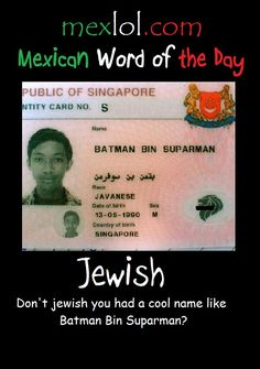 Mexican word of the day ~ Jewish