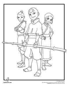 Prince Zuko Aang And Katara Coloring Page Free Online Printable Pages Sheets For Kids Get The Latest
