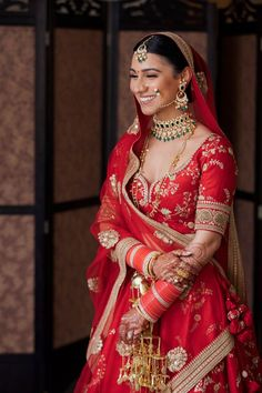 Photo from Simi & Udit Wedding Indian Bridal Outfits, Indian Bridal Fashion, Indian Dresses, Dulhan Dress, Bridal Chura, Bridal Lehenga Collection, Indian Wedding Planning, Vetement Fashion, Bridal Blouse Designs